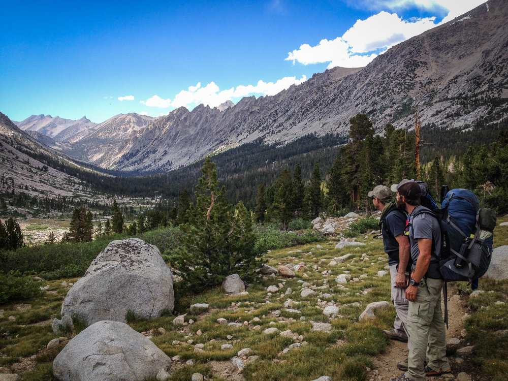 June 2014 - Looking north along Bubbs Creek drainage, before I knew what ultralight anything was....