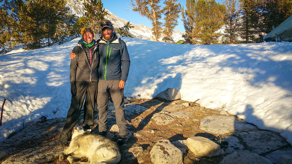 Reunited in the Sierra! Lazy Storm tried his best to participate in this family photo...