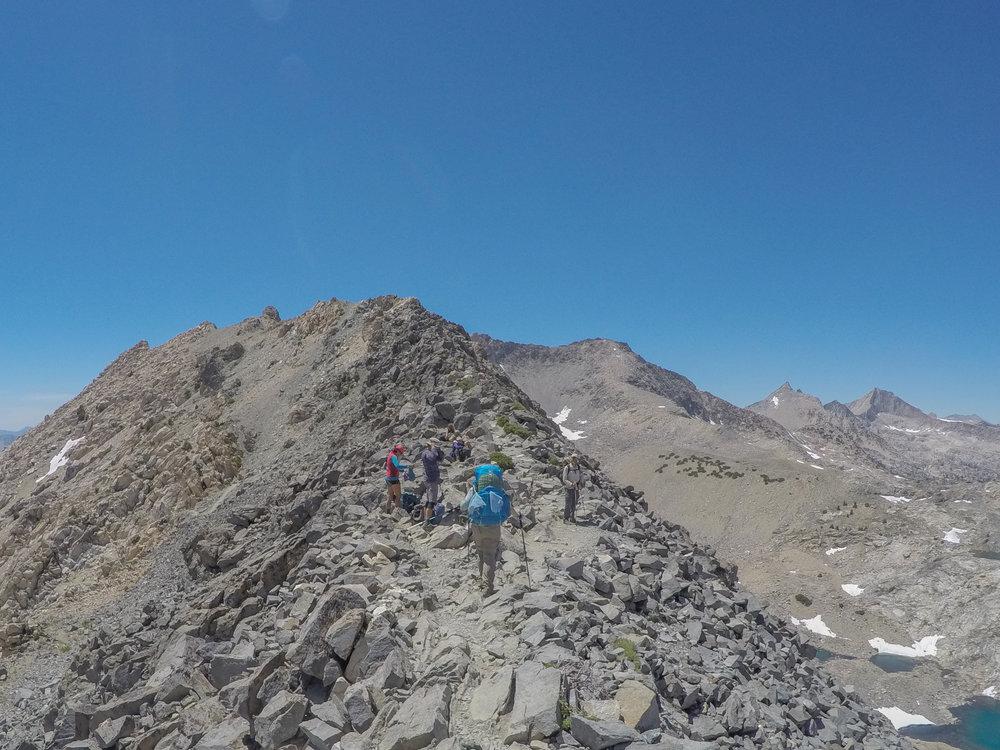 June 2016 - Looking along the ridge at Glen Pass.