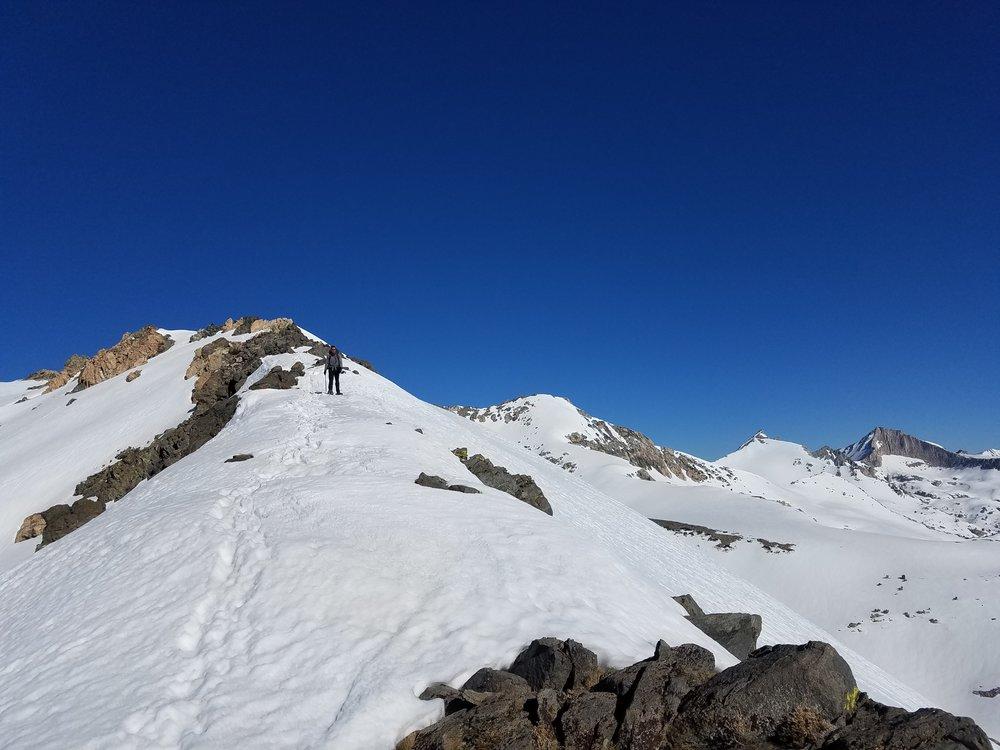 May 2017 - Amped walking along the ridge at Glen Pass.