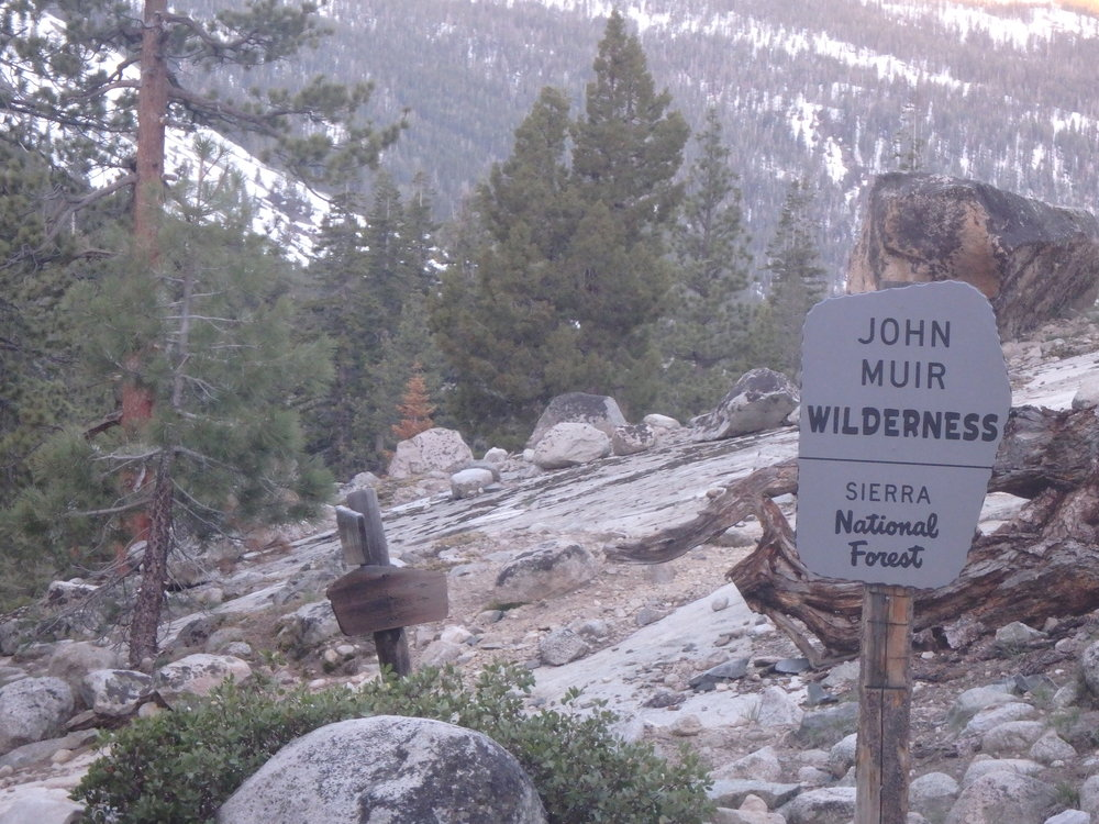 ...and entering the John Muir Wilderness.