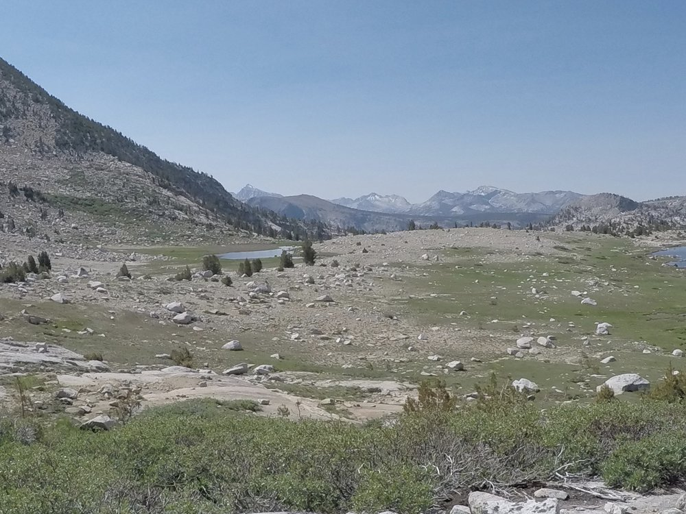 June 2015 - Looking south from the approach to Silver Pass.