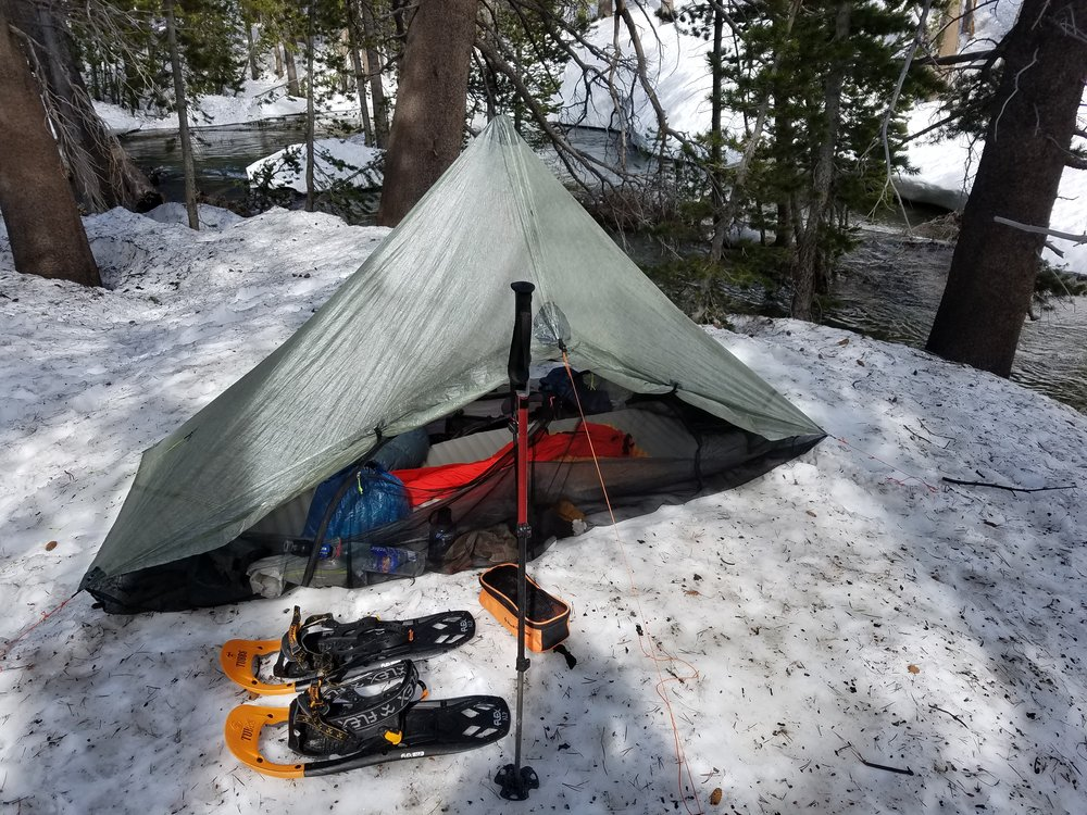 Camp for the night along Fish Creek.