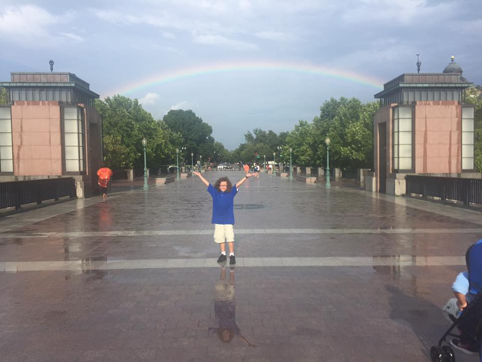 Jackson under the rainbow