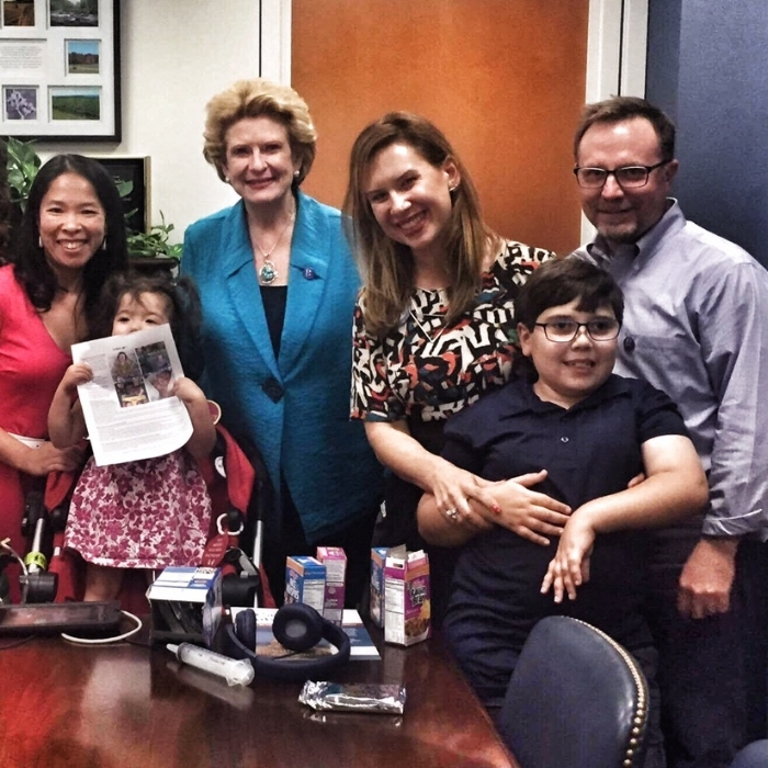 Meeting Senator Stabenow (Simon requested snacks... fortunately she had lots of Kellogg's cereal on hand! Did you know Kellogg was based in Michigan?)