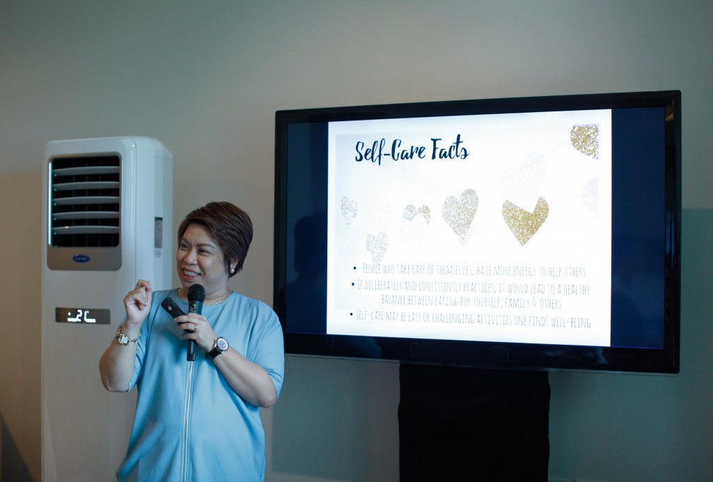 Registered Psychologist and Registered Guidance Counselor Ichel Alignay discussed with moms how they can take care of their emotional, mental, physical, social, and spiritual wellness through simple, manageable steps.