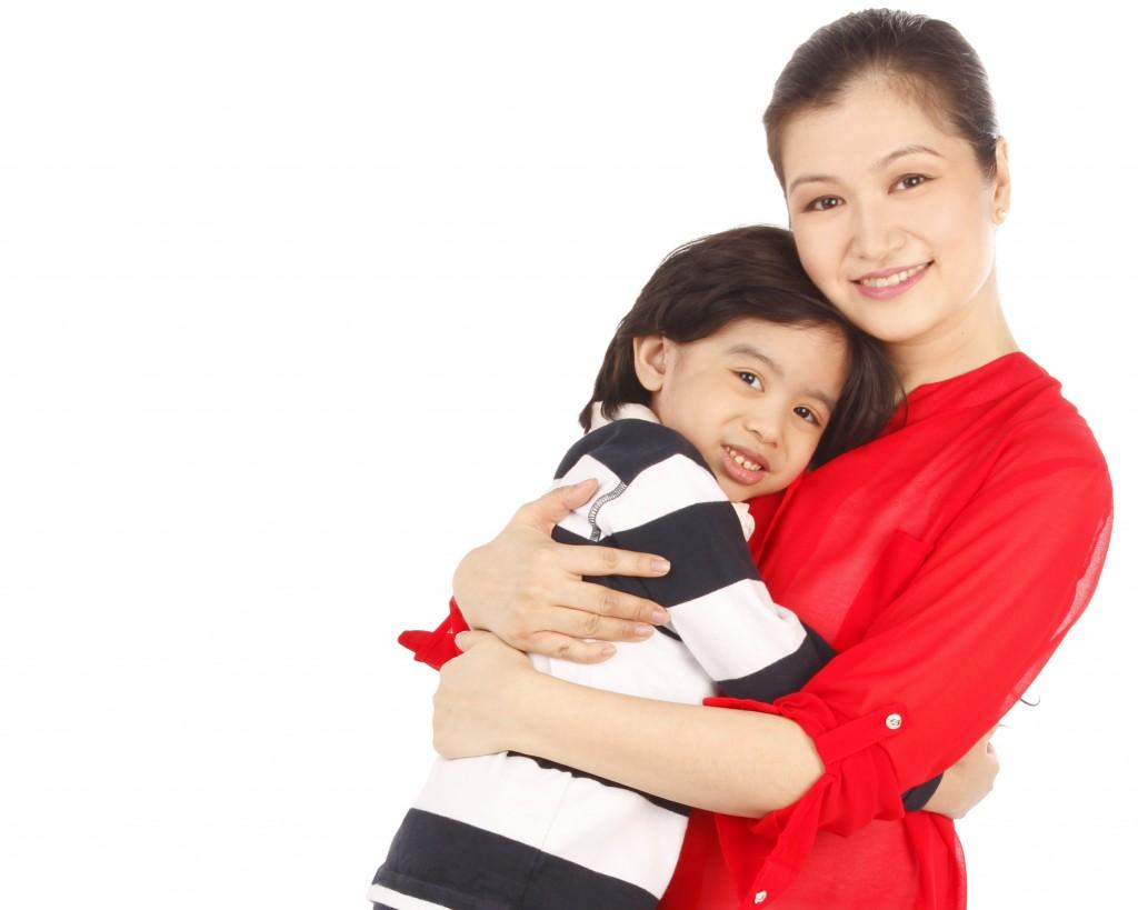 Teacher Jeannie with son Jack