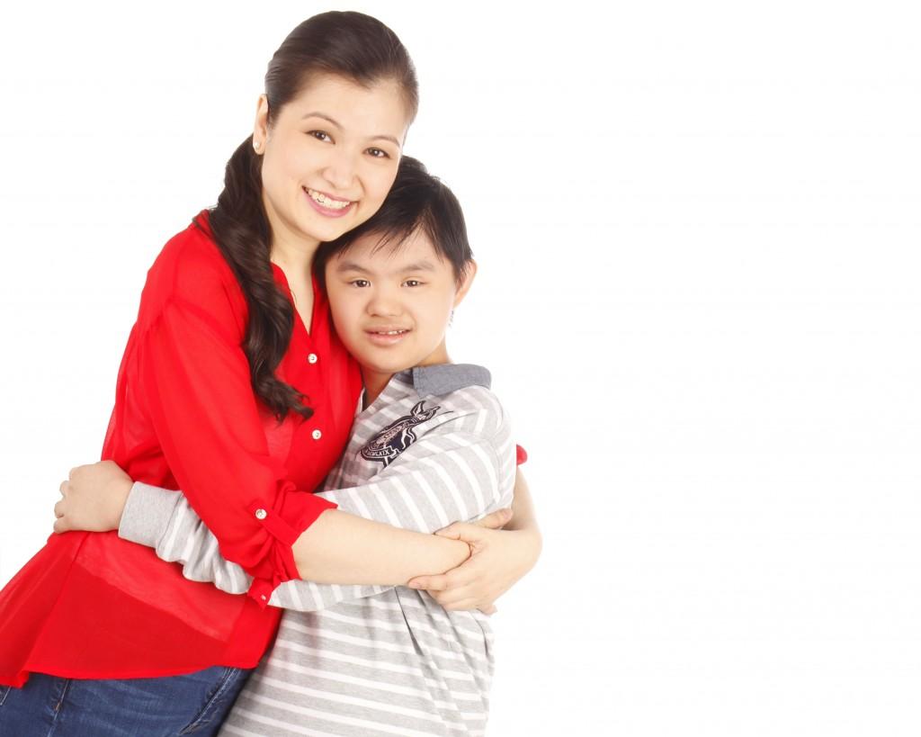 Teacher Jeannie with son Jamie