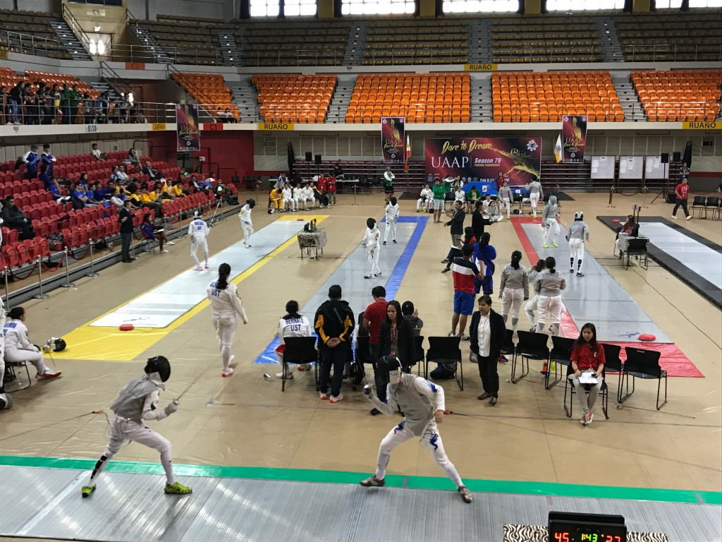 Coby at the last UAAP Fencing Championships