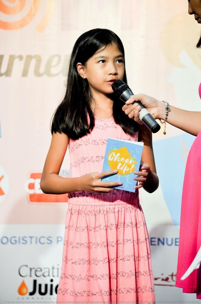 "Reese during the launch for her quote book ""Cheer Up"""