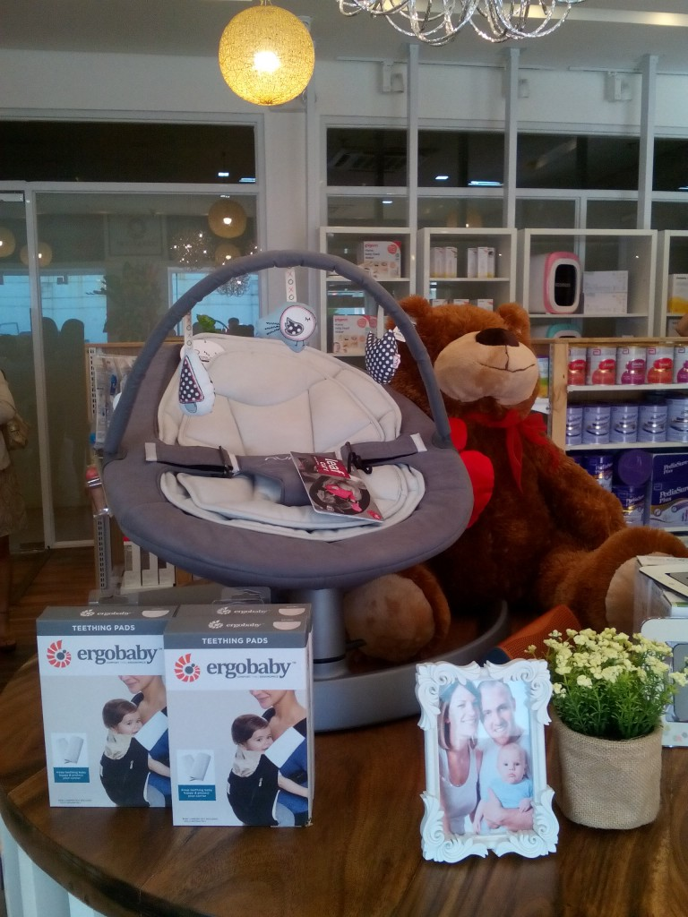 Baby bouncers and carriers are available at My Baby Planet, among others