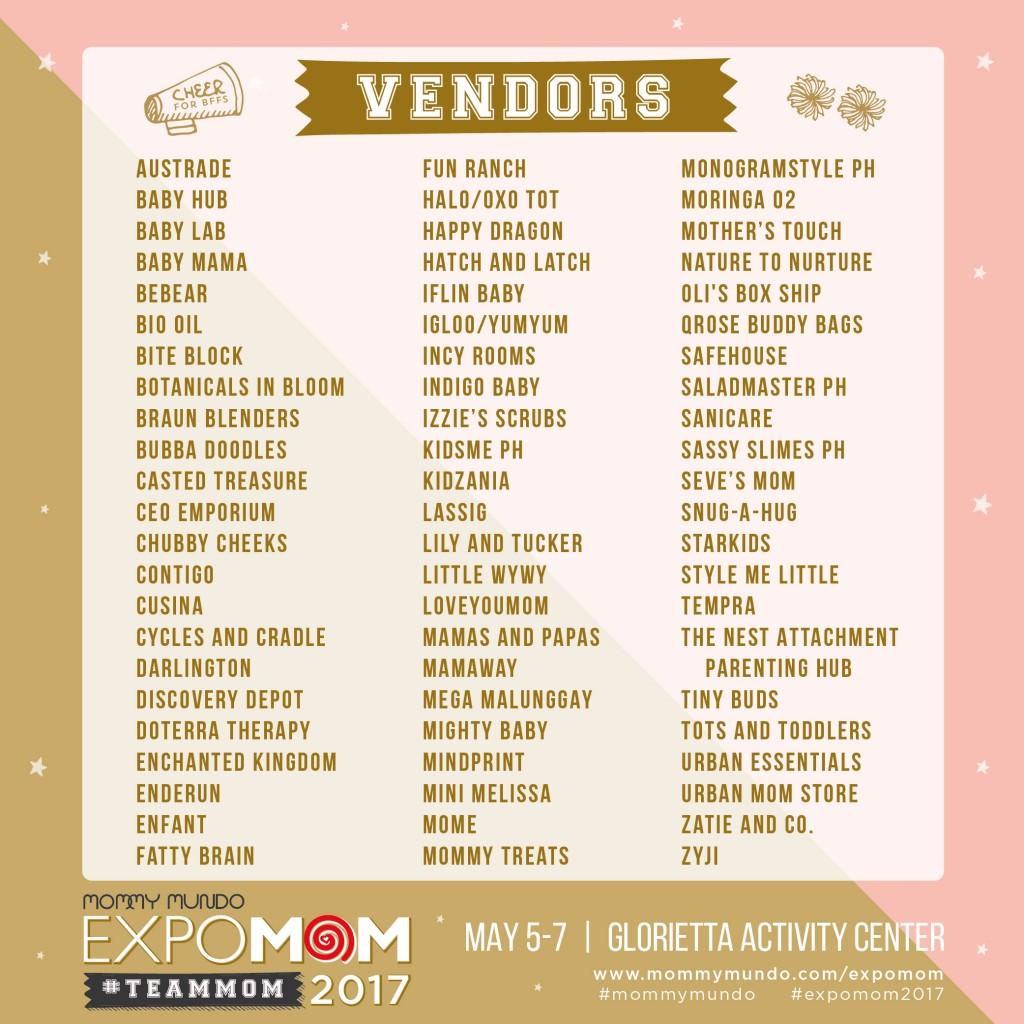 Expo Mom List_vendors