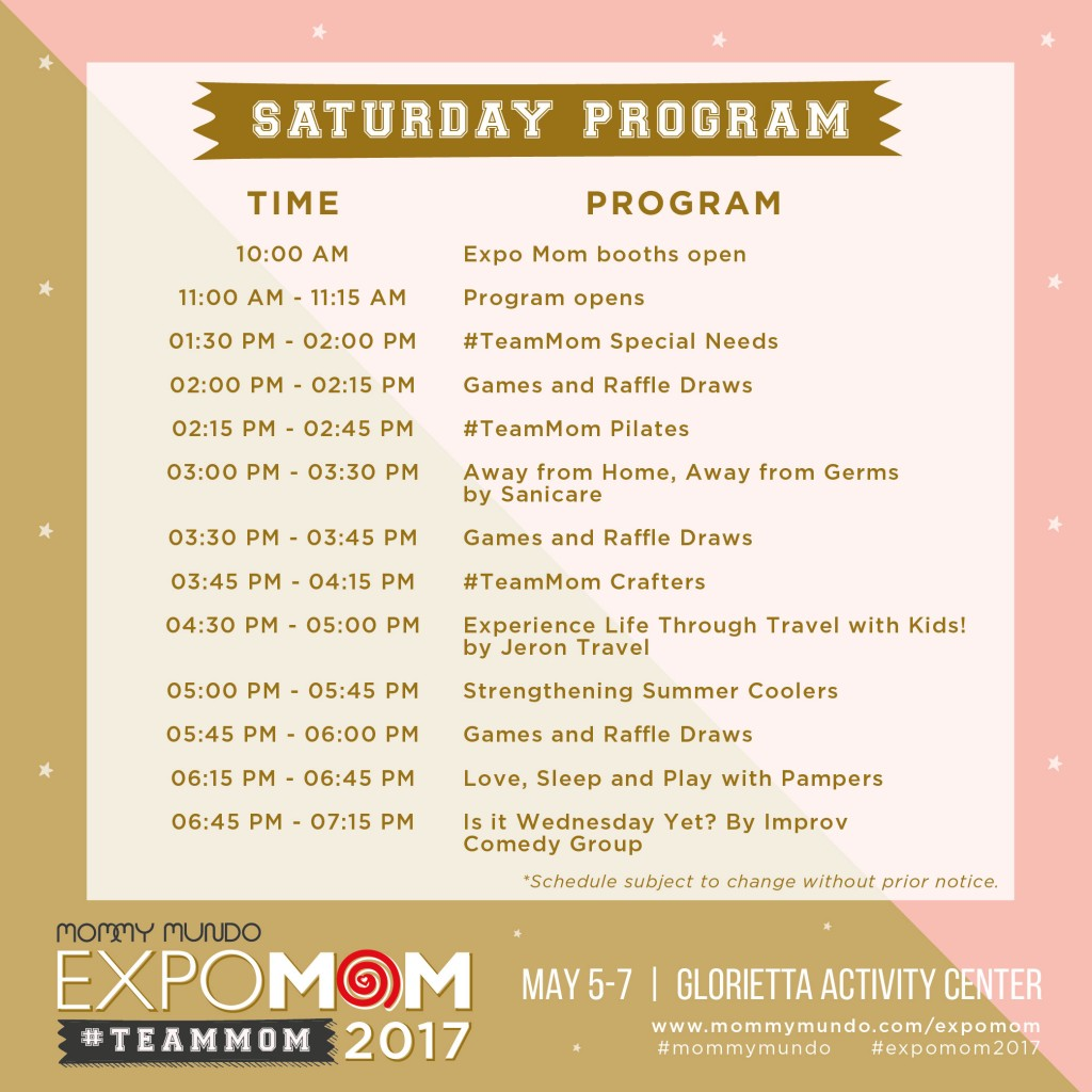 Expo Mom Program_Saturday