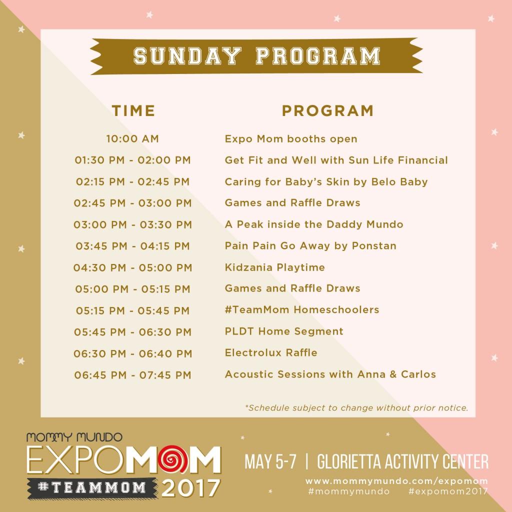 Expo Mom Program_sunday