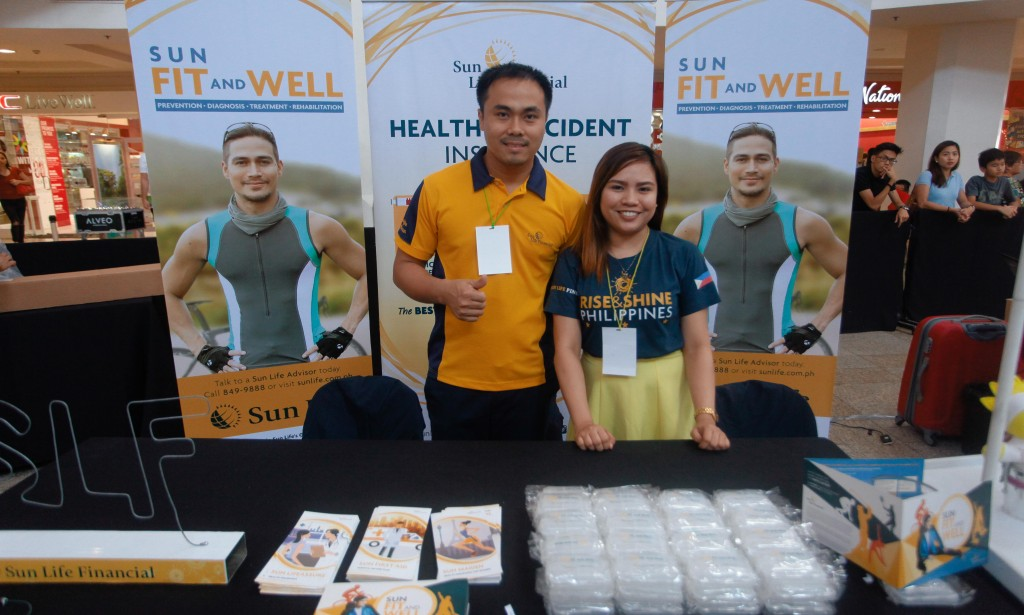 Our friends at Sun Life were on hand to assist parents on ensuring their family's health and well-being