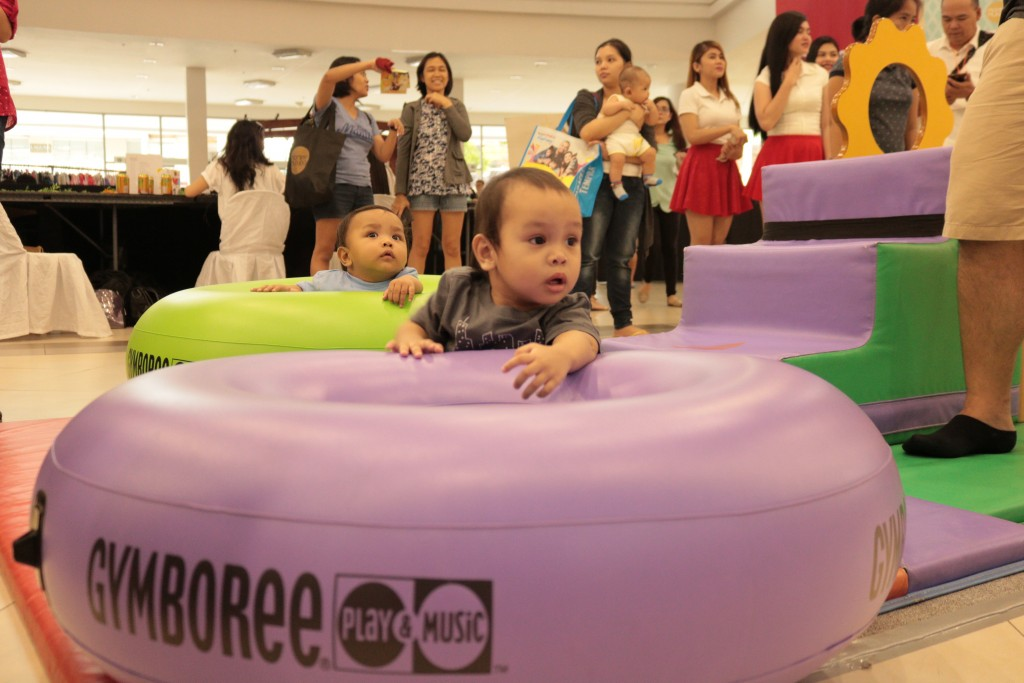 Gymboree set up a special play area for our kiddie visitors.