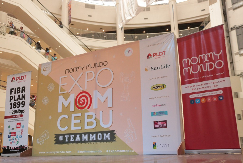 The stage is set for a day's worth of learning and fun at Expo Mom Cebu!