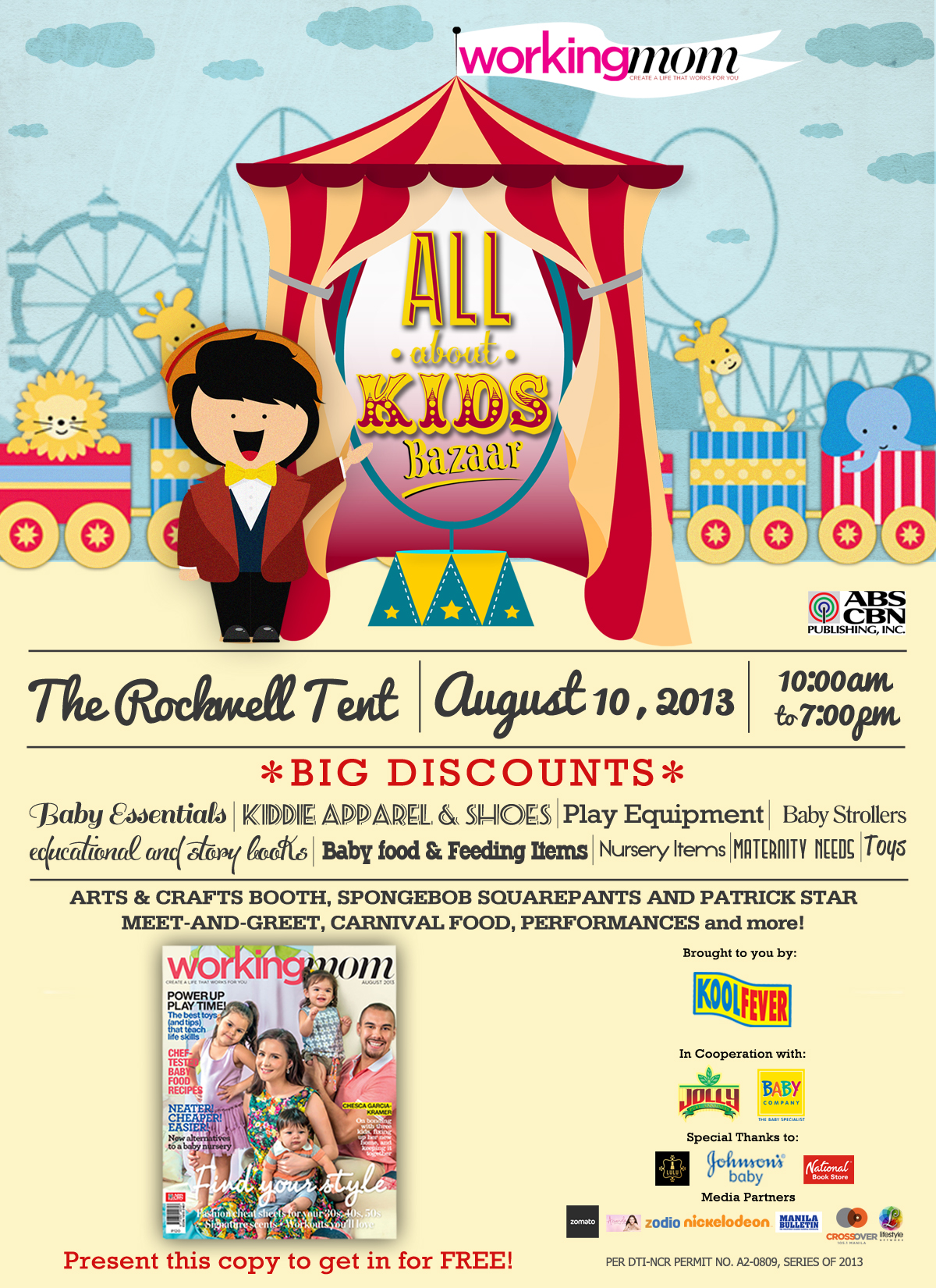 Working Mom presents the All About Kids bazaar
