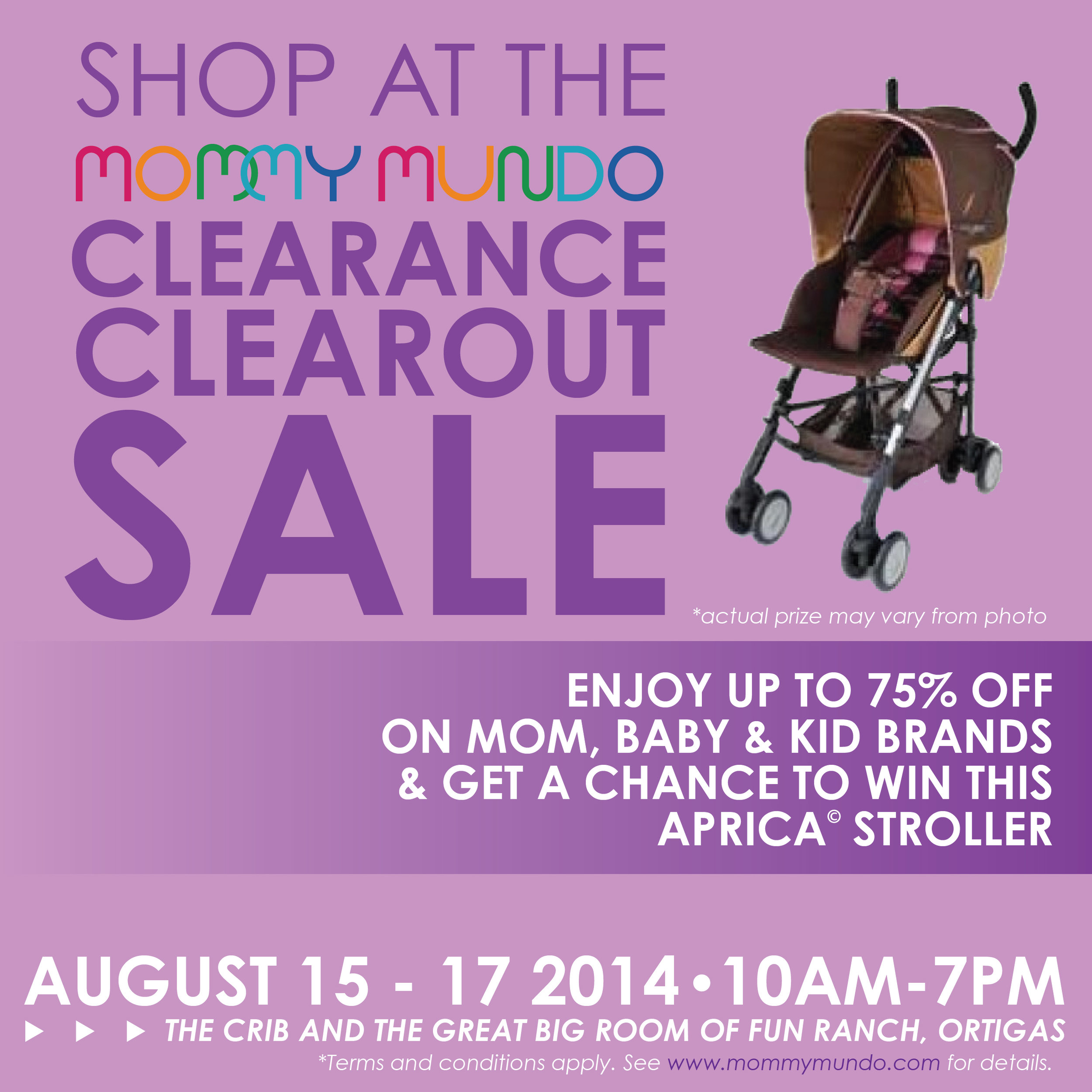 Mommy Mundo Clearance Clearout Stroller Contest