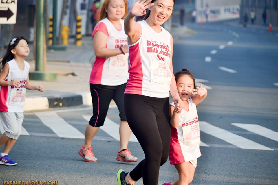 Happy mom and daughter at the Mommy Milkshare Run last year