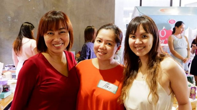 Mommy Mundo Content Head Jing Lejano with bloggers Shen of Shen's Addiction and Chessy of Chessy.ph