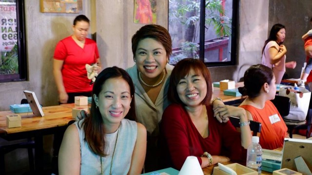 The moms behind the Mindful Mom Re-Treat: Mommy Mundo Founder Janice Villanueva, Ichel, and Jing