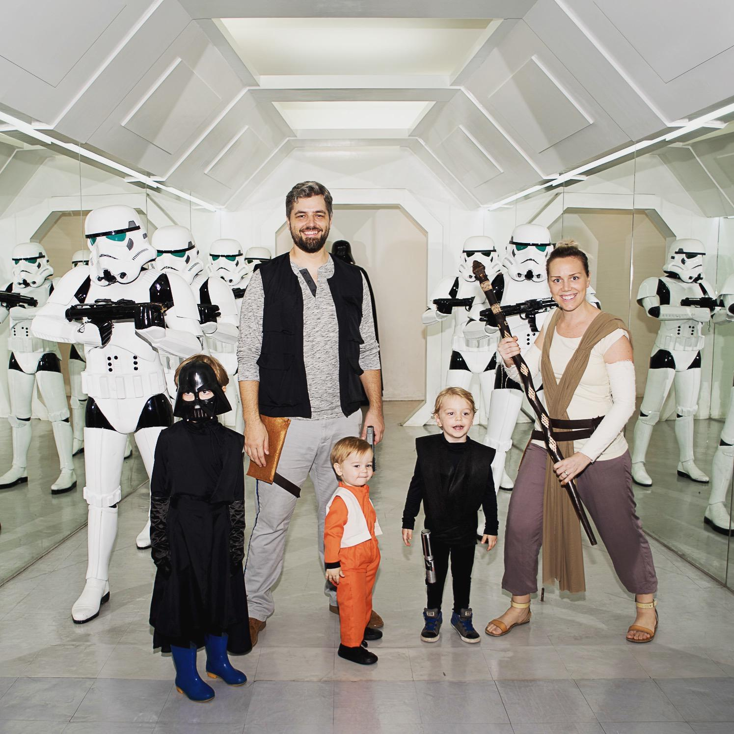 Our Star Wars family, as photographed by Lianne Bacorro.
