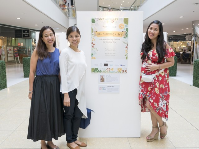 Mommy Mundo Founder Janice Villanueva with lactation expert and breastfeeding advocate Dr. Jamie Isip Cumpas, and Mommy Treats Founder Paola Loot Bronfman