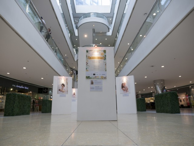 The setup at The Podium Mall where the exhibit runs until August 13, 2017