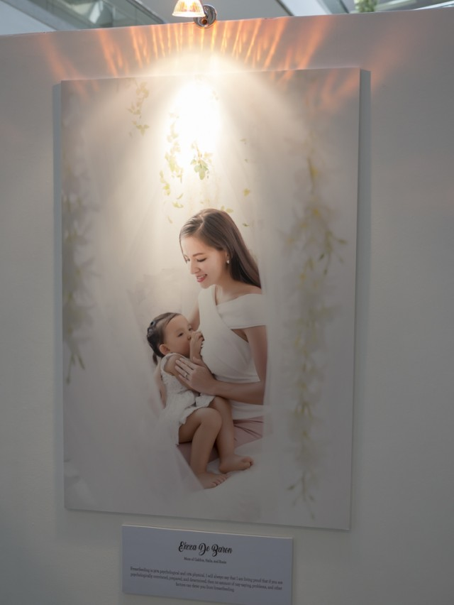 "Eizza de Baron, mom of Gabbie, Haile, and Rosie, says, ""Breastfeeding is 90% psychological and 10% physical. I will always say that I am living proof that if you are psychologically convinced, prepared, and determined, then no amount of nay-saying, problems, and other factors can deter you from breastfeeding."""