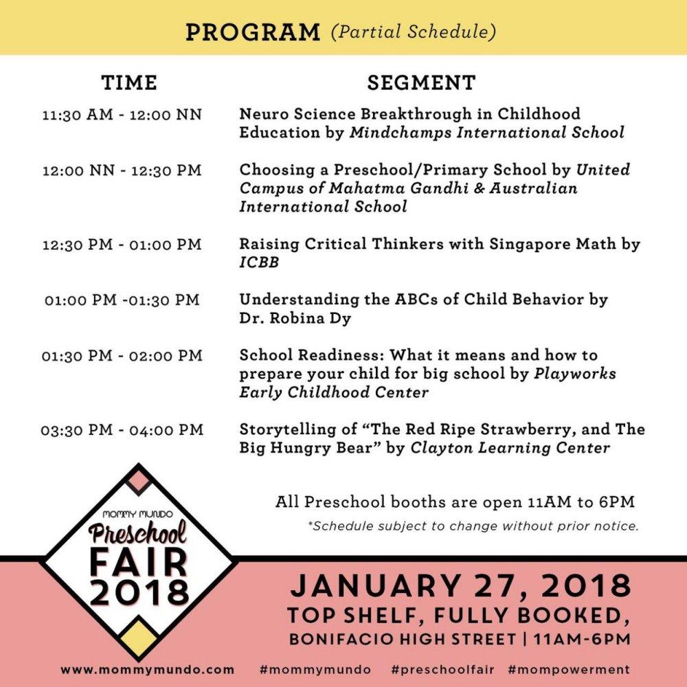 Preschool Fair Program