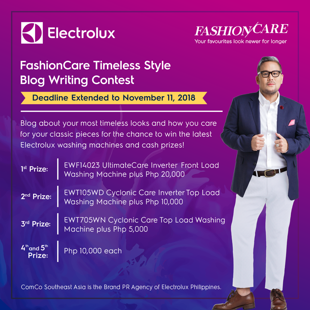 Blog about your most timeless looks and how you care for the classics and get the chance to receive cash prizes and the latest Electrolux washing machines!