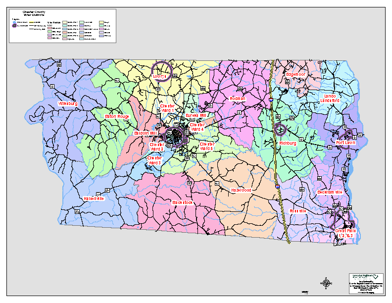 COUNTY Voter District Map -