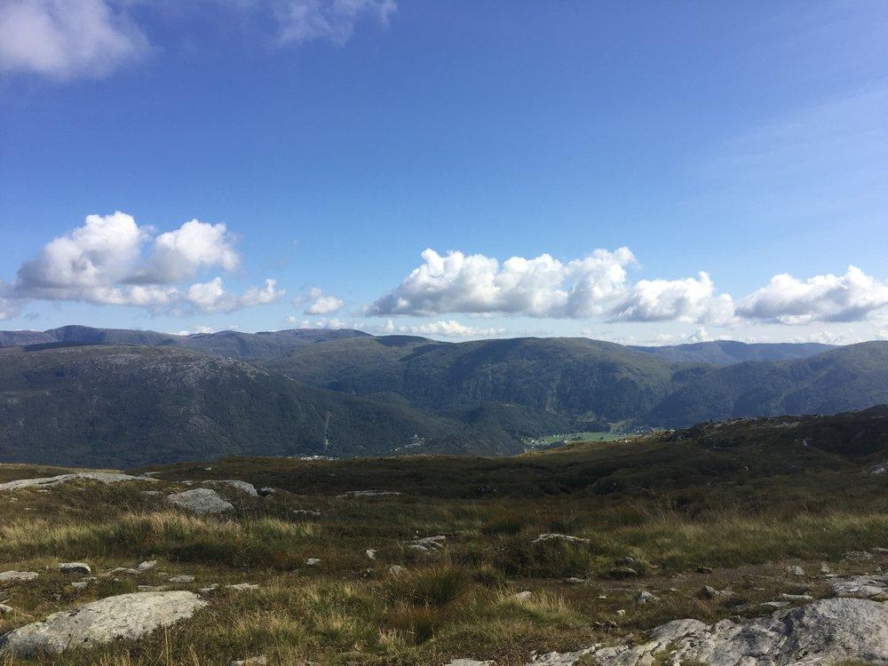 The inland hills behind Bergen