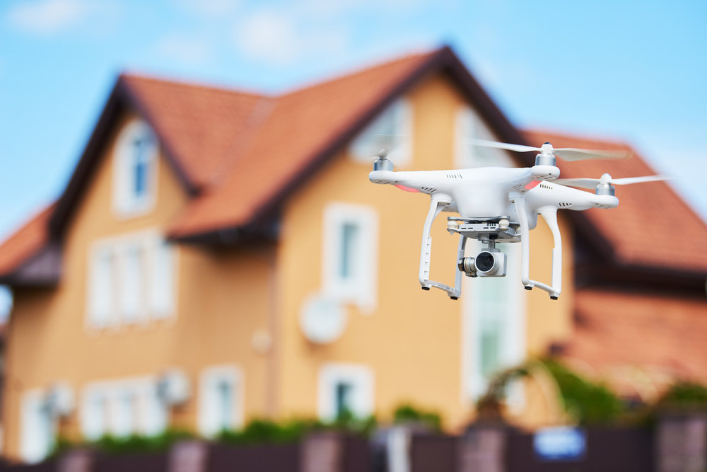 Drone Inspections - Using drones enables our technicians to acquire high resolution images from a safe vantage point as documentation of roof damage.