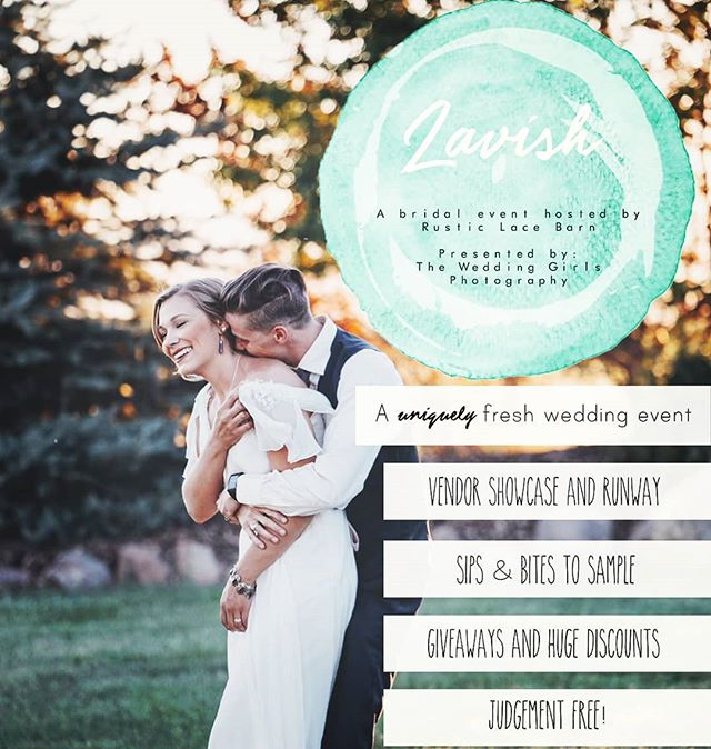 DON'T MISS ZAVISH! A uniquely fresh Bridal Event hosted by @therusticlacebarn complete with a bridal runway show on the ceremony site! RSVP + get your VIP Tickets at https://www.therusticlacebarn.com/zavish-bridal-event/  #bridalshow #bridalfashion #weddingdress #weddingvendors #weddingvenue #coloradoweddingvenue #coloradospringsweddingvenue #barnwedding #weddingplanning #rusticwedding #perfectpromise #bestdayever