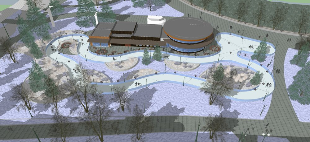 Riverfront Recreational Ice Ribbon