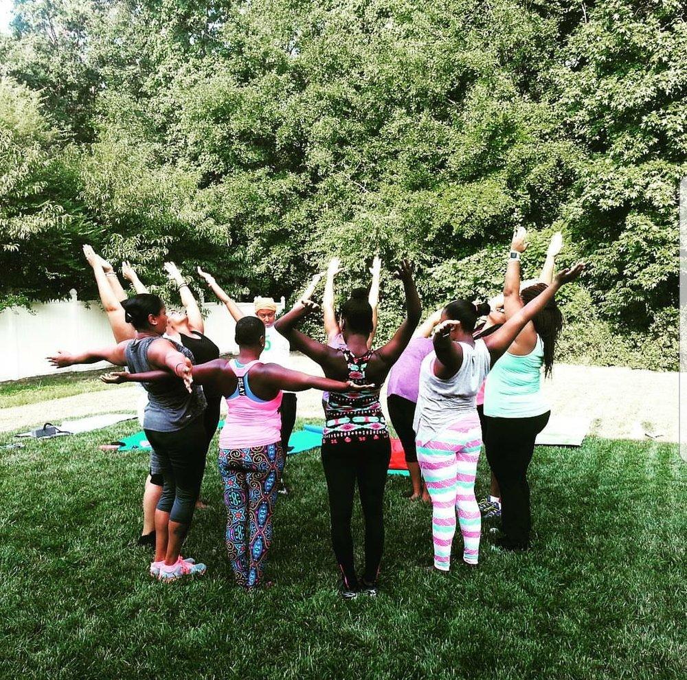 Community, sisterhood, self-care. Yoga4us.