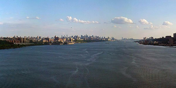 The Hudson River from the GWB on an early summer afternoon