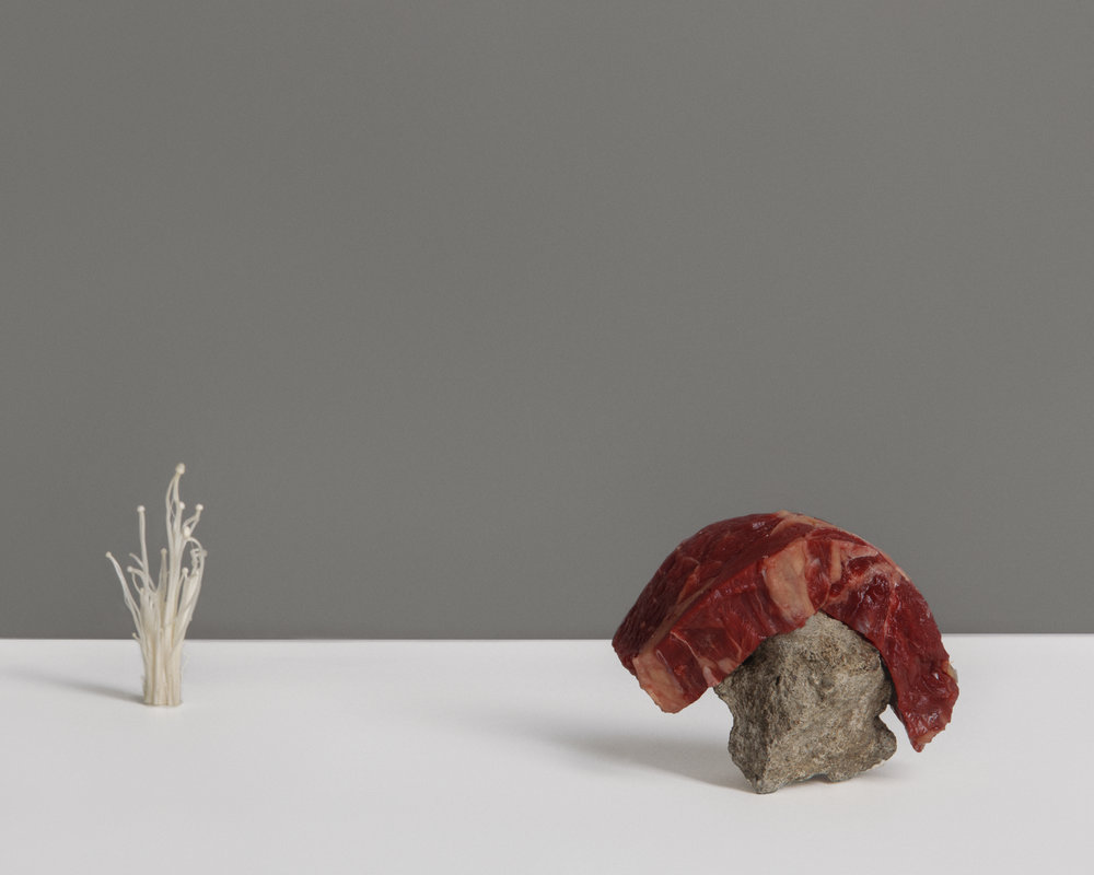 RAW BEEF AND ENOKI