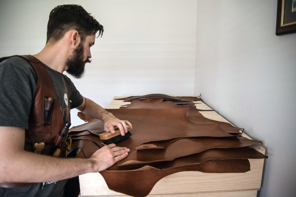 Chris Rose, Rose Leather Crafting, Kangaroo Leather, hand made wallets, leather wallet