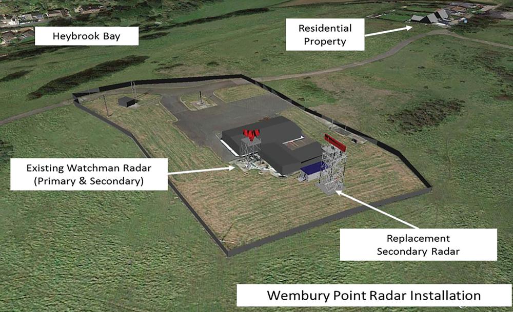 Wembury Point Radar Installation.