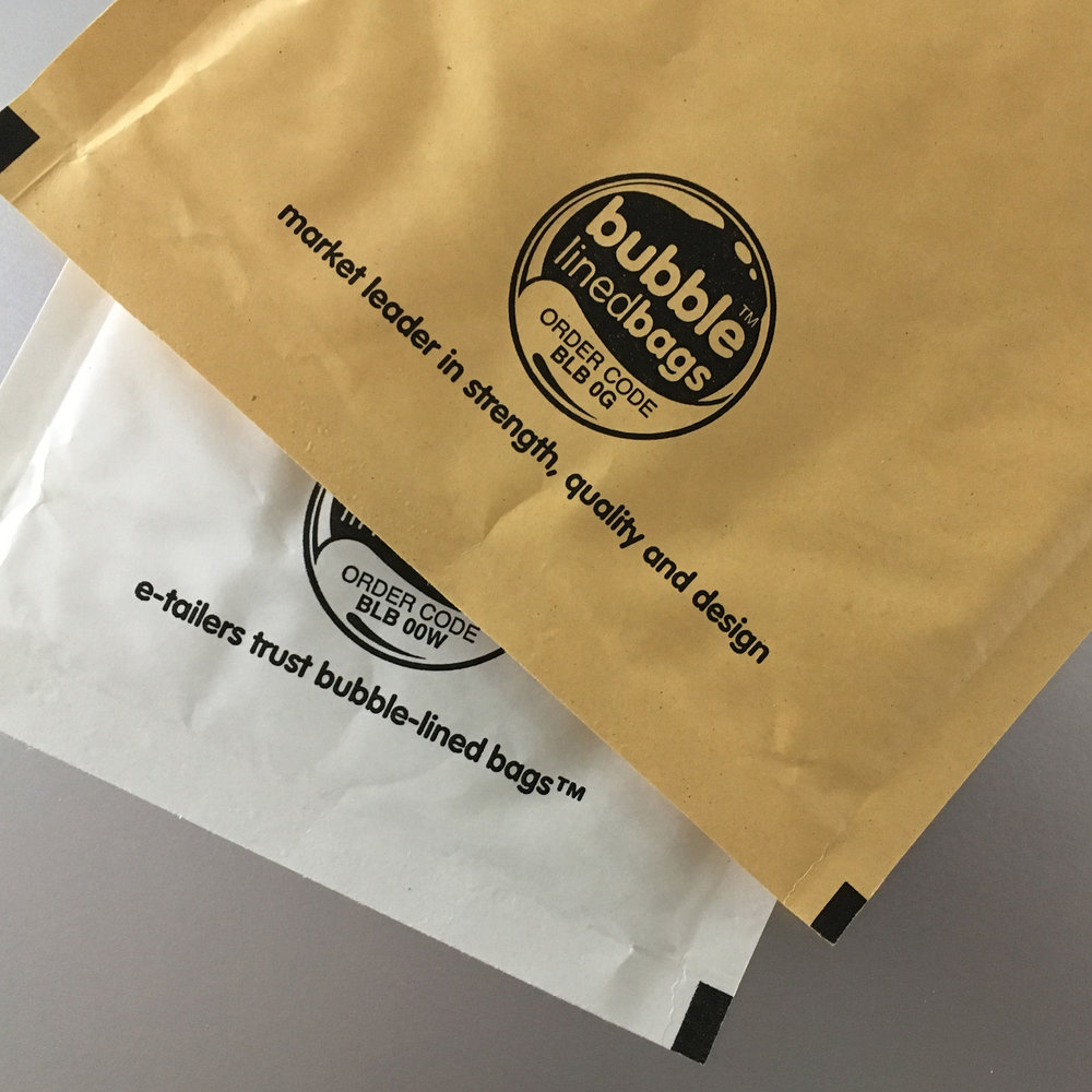 Bubble lined bags - designed to promote themselves