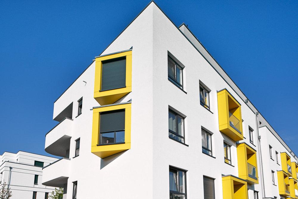 Architekturfotografie - Wohnhauskomplex, Berlin