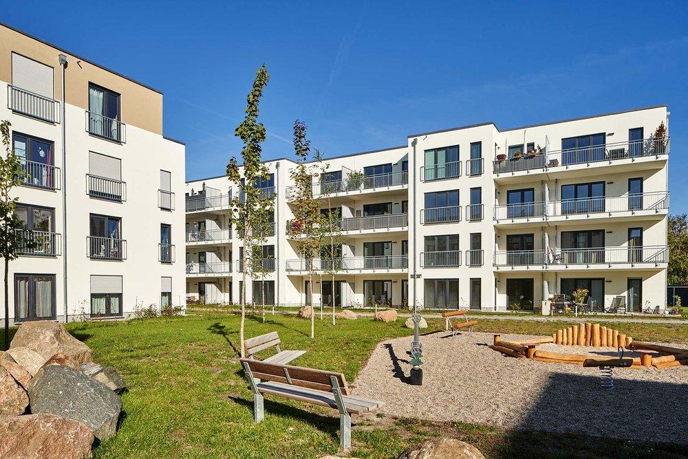 Wohnungsbauprojekt - Mehrfamilienhaus mit Innenhof in Potsdam.