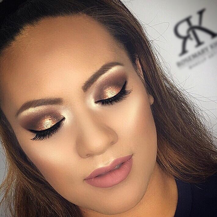 gold makeup look