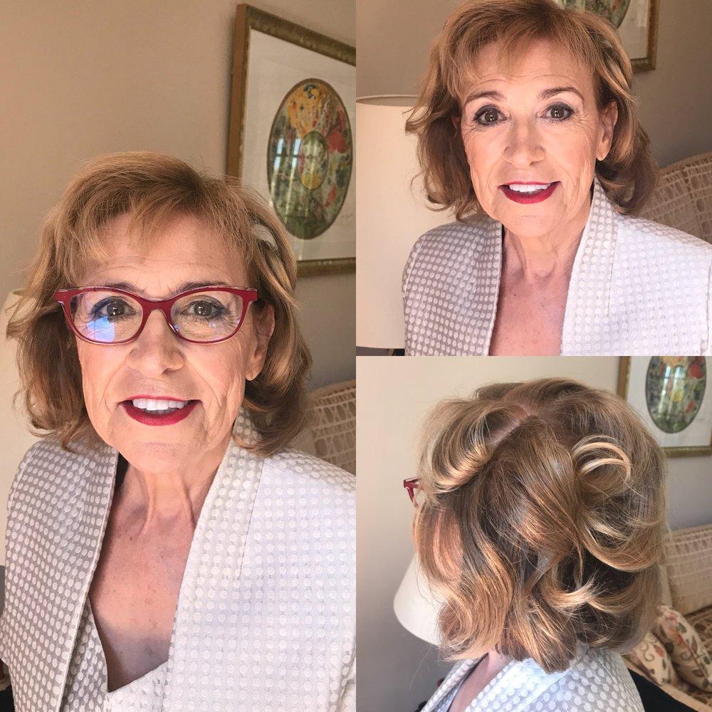 Makeup on mature woman