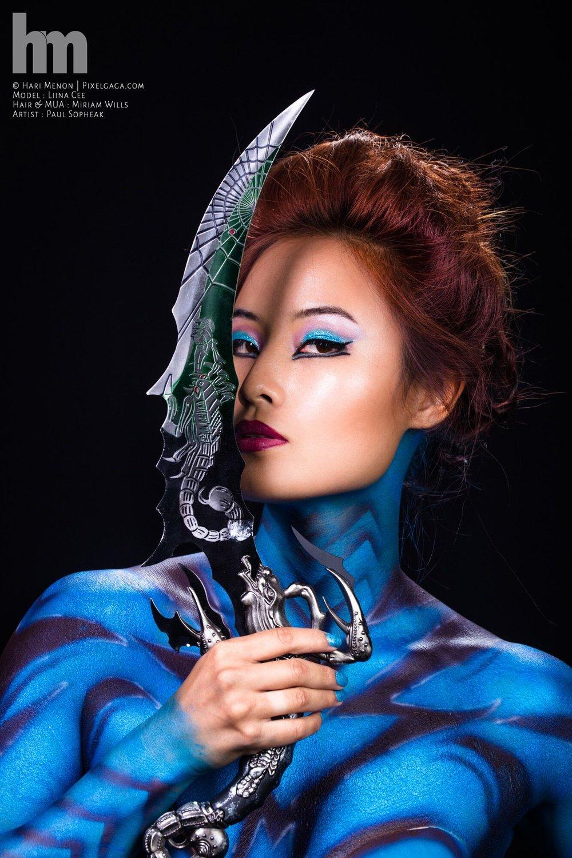 Asian editorial makeup