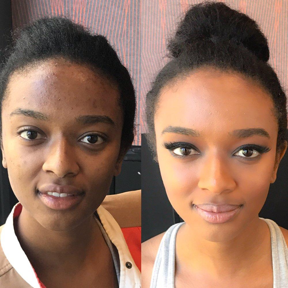 dark skin sydney makeup artist