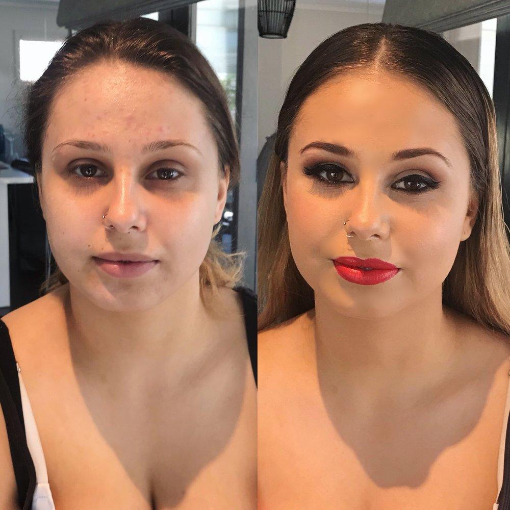 Glam makeup Sydney